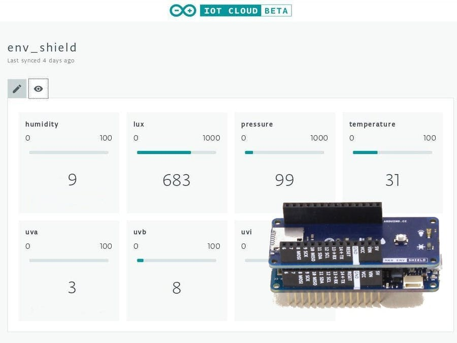 Your Environmental Data on Arduino IoT Cloud