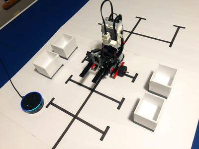 Alexa-Controlled LEGO EV3 Warehouse Robot