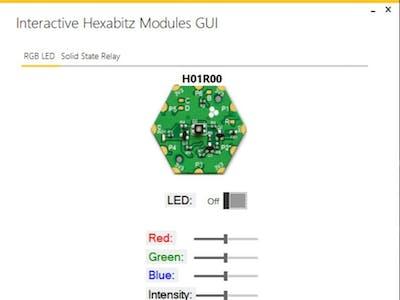 Interactive Hexabitz Modules GUI
