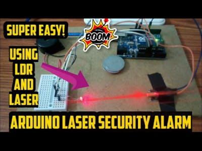 Arduino Laser Security Alarm    Laser Security with LDR