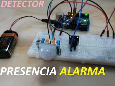 Presence Detector with an Alarm 1.0 (for Robotic Dinohedges)