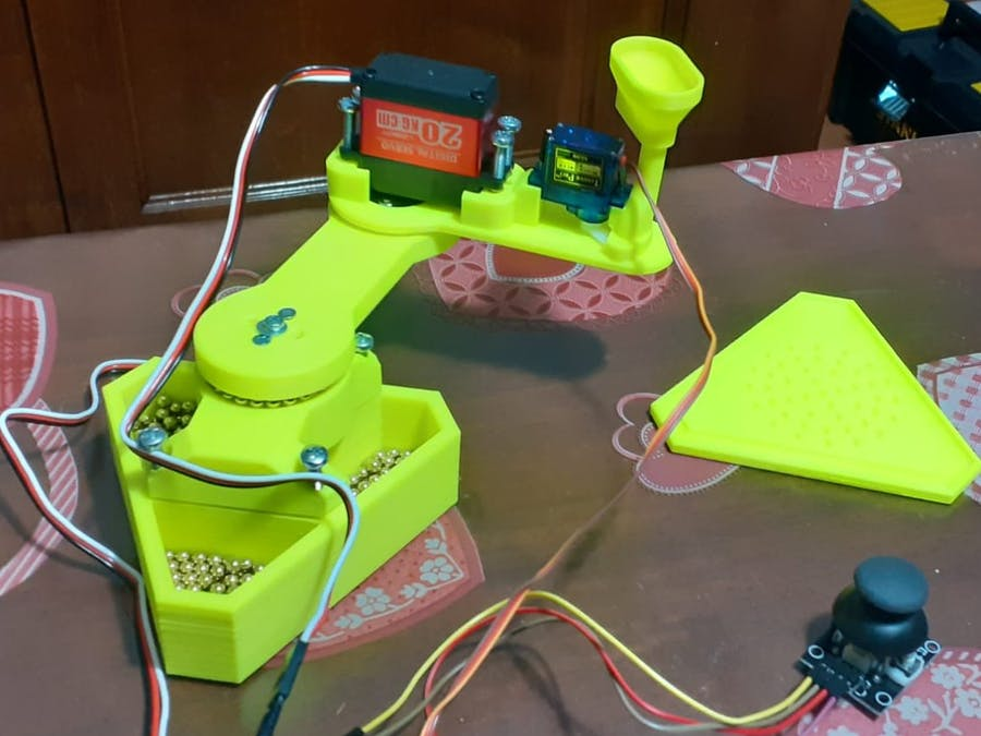 SCARA Arm Controlled by Joystick