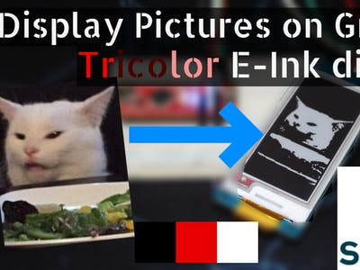 Display Pictures on Grove E-Ink Triple Color Display