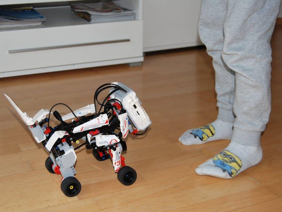 LEGO puppy powered by Amazon Alexa