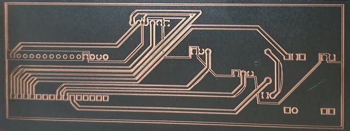 PCB after Paint removal and cleaning