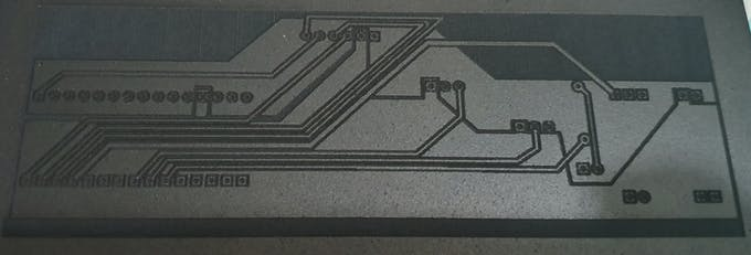PCB after lazering before any cleaning
