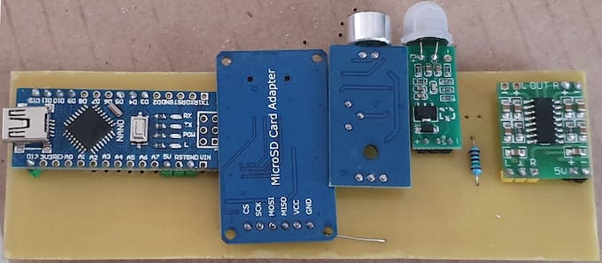 Board with all our modules added