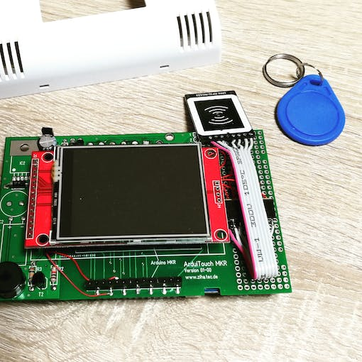 ArduiTouch pcb with assembled TFT