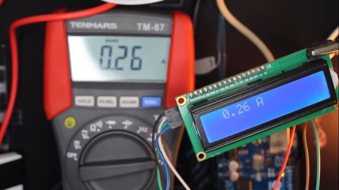 Displaying the values on the LCD