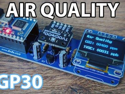 Air Quality Sensor Using an Arduino