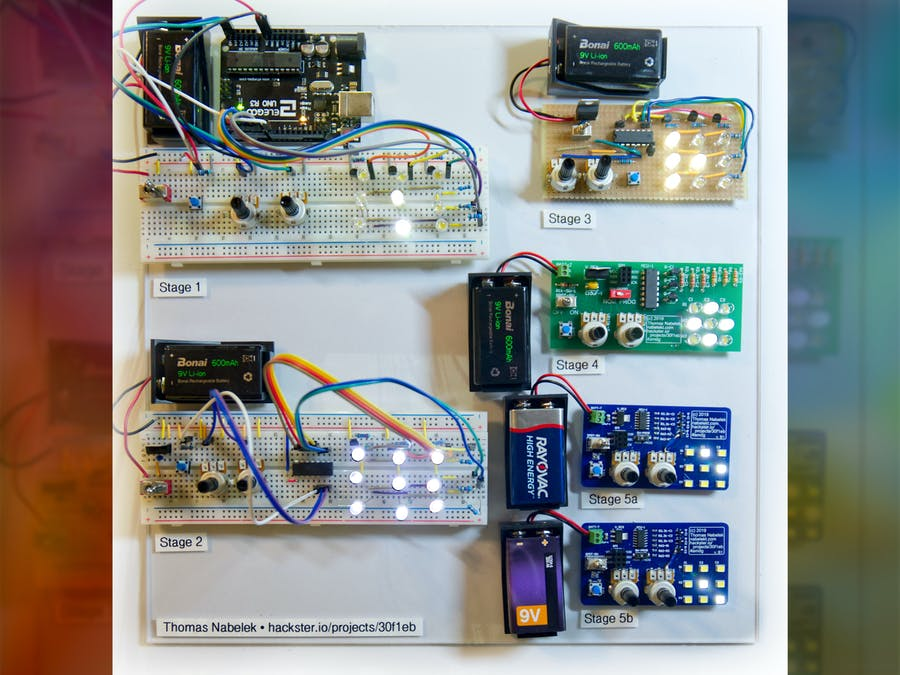 Arduino Prototype to Manufacturable PCB: An LED Multiplexer