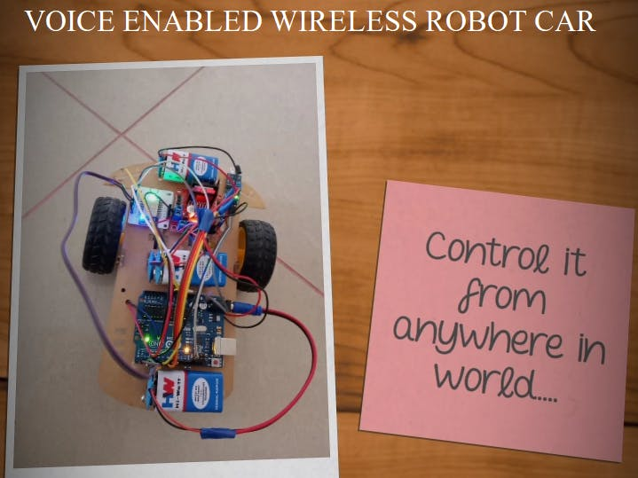 Voice Controlled Wireless ROBOT CAR