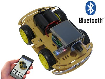 Image transmit and Control by Smartphone 4WD Robot Car