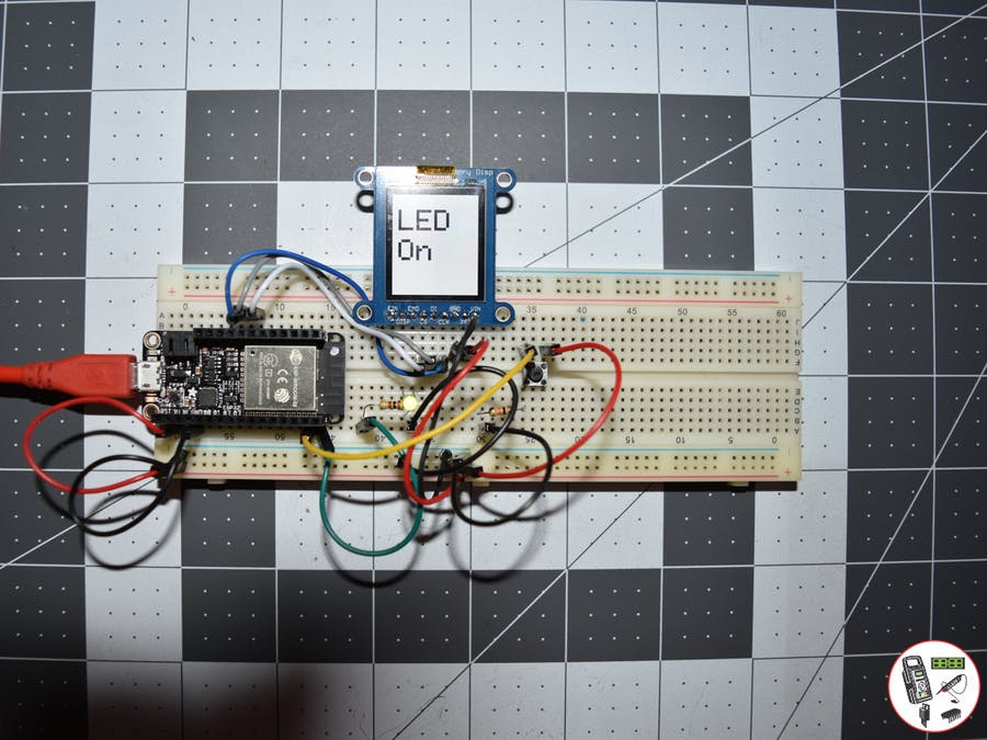 Project #11: ESP32 Feather - Push Button - Mk02