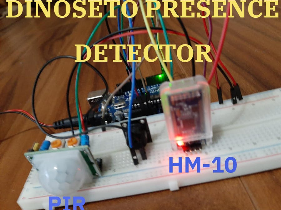 "Presence Detector Alarm 2.0 for ""Dinoseto Robot"" with App"