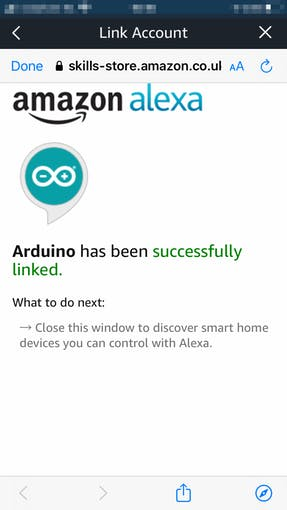 7/11: Our Alexa and Arduino IoT Cloud can now talk to each other :)