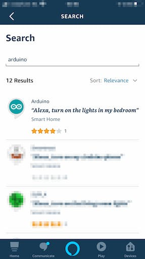 """4/9: Typing """"Arduino"""" and tapping """"search"""" we'll obtain a list. That's the one we need!"""