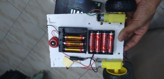 i have actually connected two 6 volt battery holders in series which is equivalent to a 12 volt battery holder