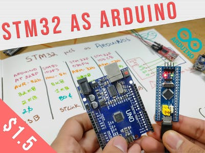 Using a STM32 like an Arduino Tutorial | STM32F103C8