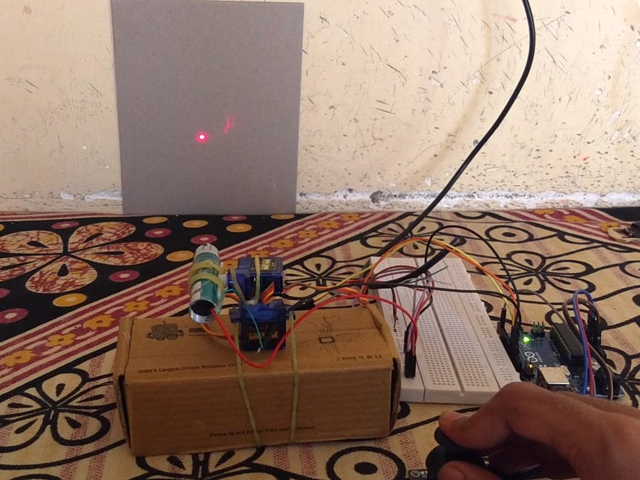 Laser guidance using Joystick