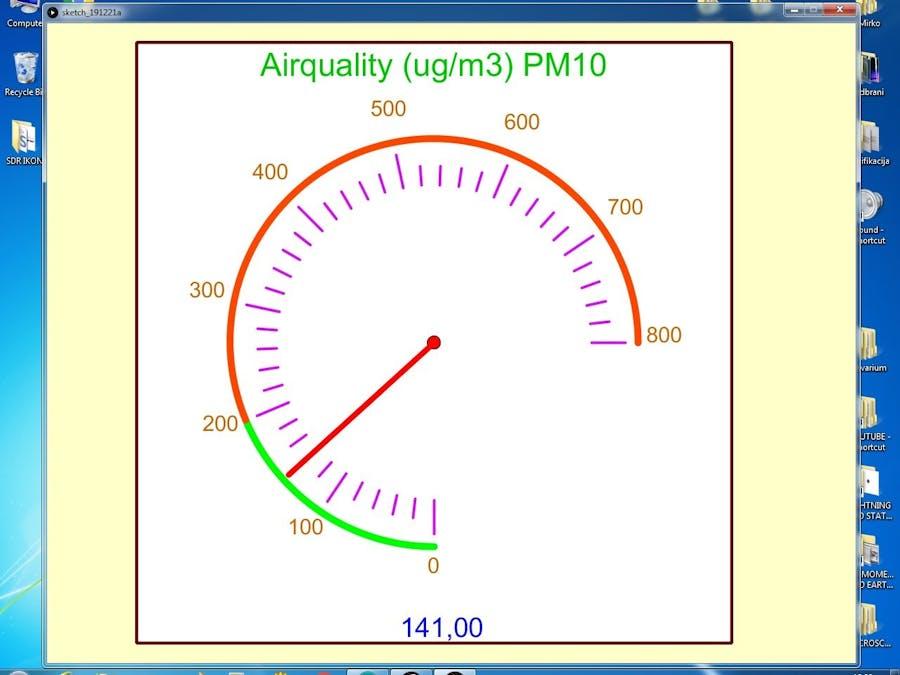 DIY Air Quality Monitor with Sharp GP2Y1010AU0F Sensor