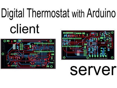 Thermostat for Burner and Boiler with Ethernet, Arduino