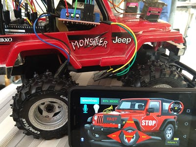 Phone Bluetooth-Controlled RC Car