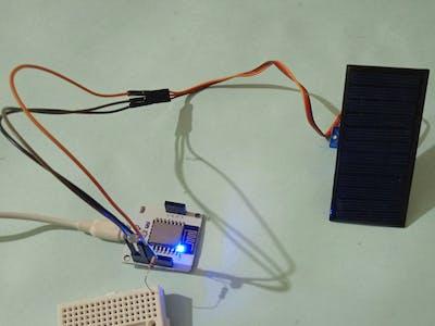 Bolt rotating solar panel with light intensity monitoring