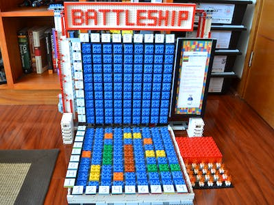 Battleship. Interactive game using Amazon Alexa and LEGO EV3