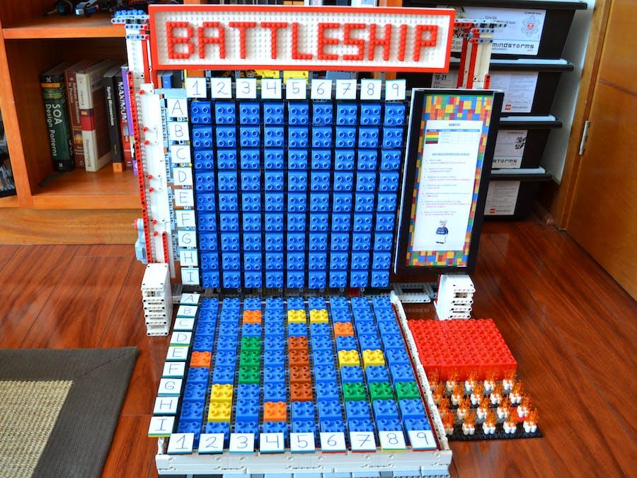 Battleship. Interactive game using Amazon Alexa and LEGO EV3