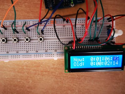 LCD Stopwatch, with Split time
