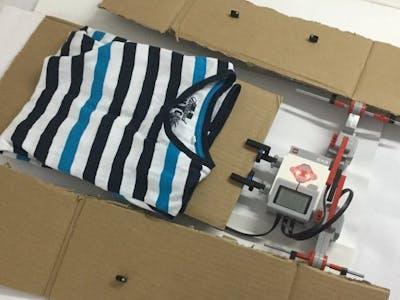 Alexa/Lego T-shirt Folding Machine