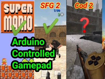 ARDUINO CONTROLLED GAMEPAD FOR PC (Wired)