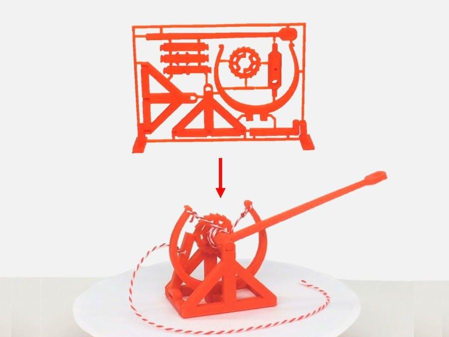 3D-Printable Davinci Catapult Gift Card