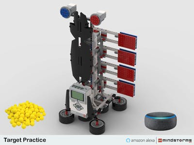 LEGO Target Practice powered by Mindstorms EV3 and Alexa