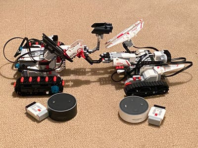 Battle LEGO Robots with Alexa as Your Gamemaster