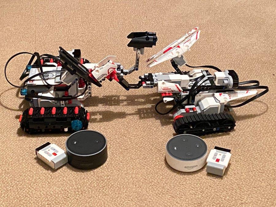 Battle LEGO Robots with Alexa as Your Gamemaster