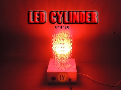 "MAKE A HUGE LED CYLINDER "" 8 x 4 x 16 "" With Arduino"