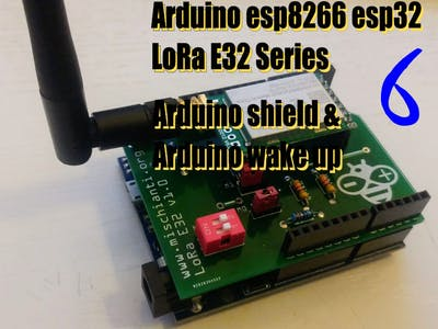 LoRa E32 Device Arduino Shield (8Km Support)