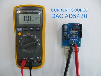 Current Source DAC AD5420 and Arduino UNO