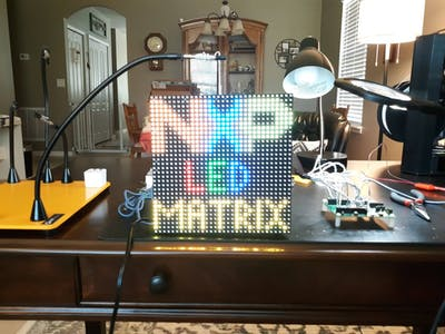 i.MX RT1010 EVK RGB LED Matrix Driver