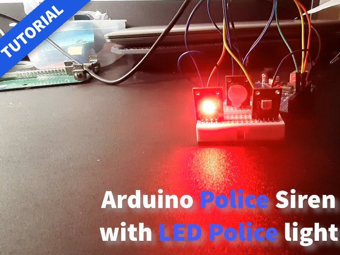 Arduino Police Siren With Led Police Lights