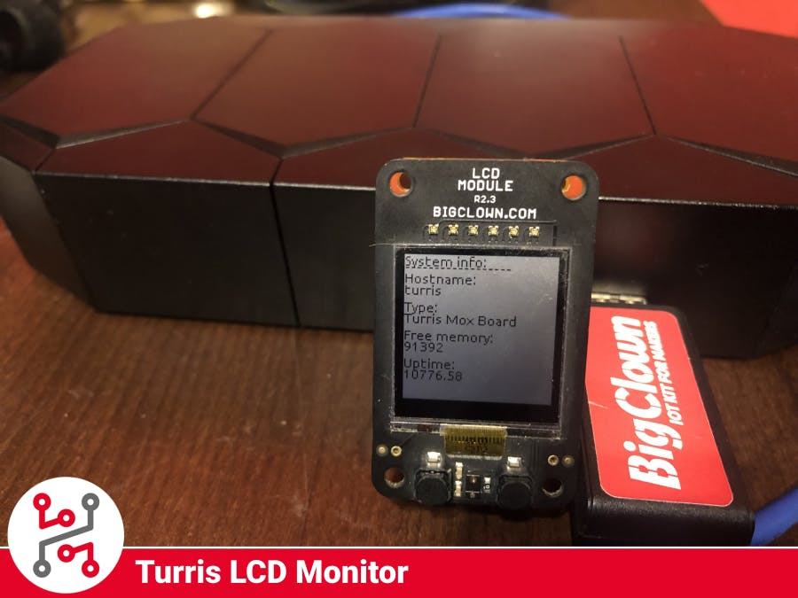 Turris MOX LCD Monitor with HARDWARIO IoT Kit