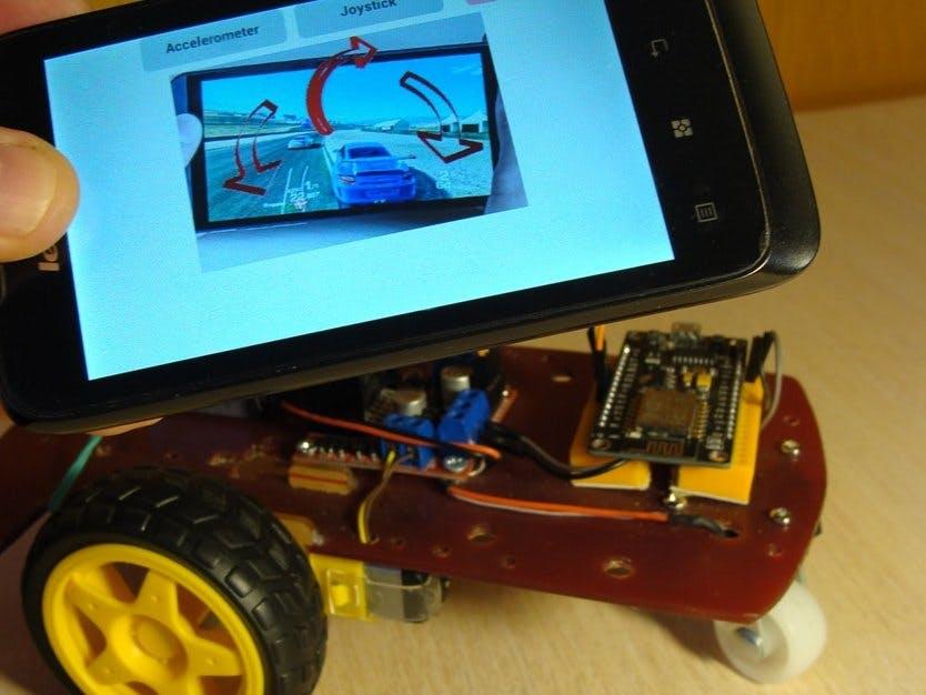 Car WiFi UDP NodeMCU Accelerometer Android & Speaker