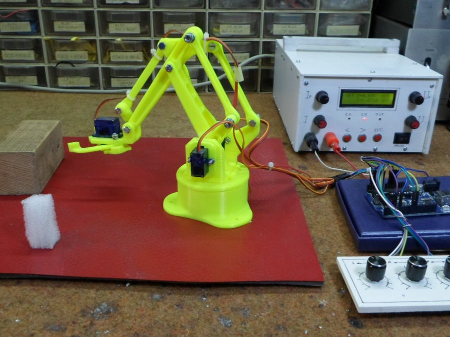 Record and Play Arduino 3D Printed Robotic Arm