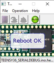 Reboot shows the upload has finished