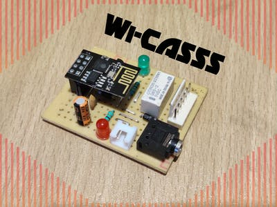 WiFi Controlled Audio Source Selector Switch (Wi-CASSS)