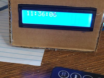DIY Simple Math-Solving Alarm Clock Out of Cardboard