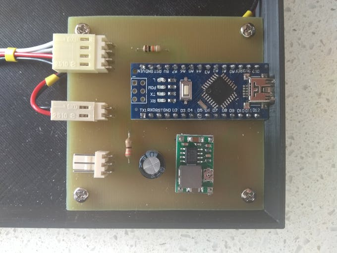Assembled PCB board
