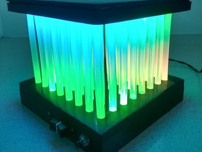 Hot Glue LED Matrix Lamp